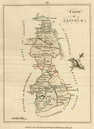 County of Leitrim, Connaught. Antique copperplate map by Scalé / Sayer 1776